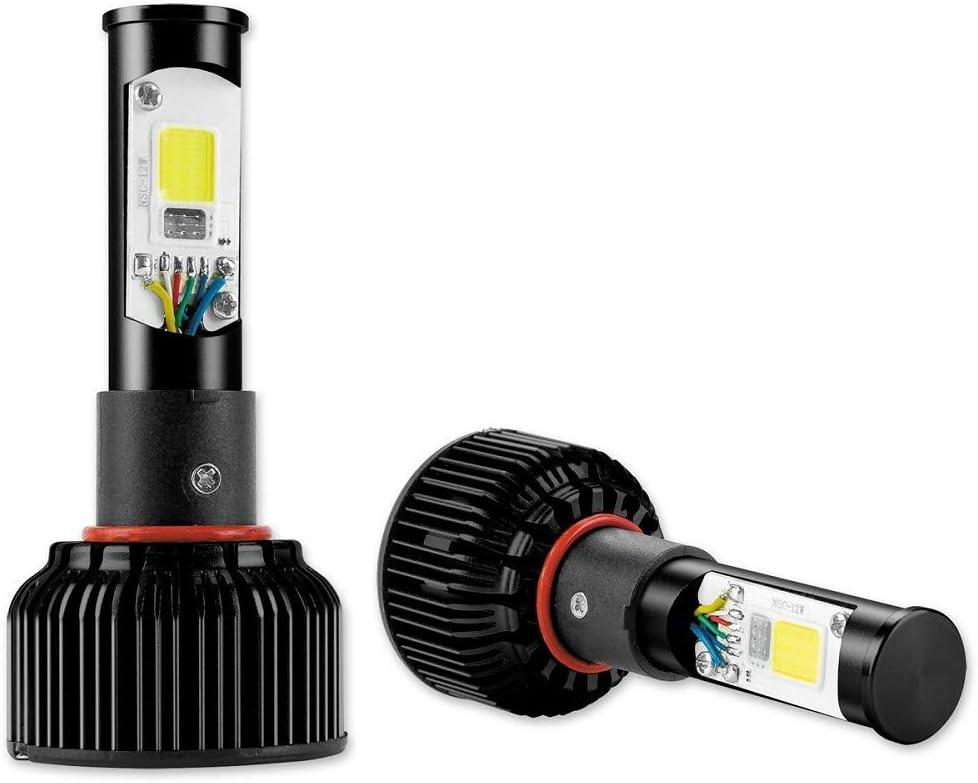 H8 XK Glow XK042004-H8 2-In-1 RGB LED Headlight Two Bulb Kit