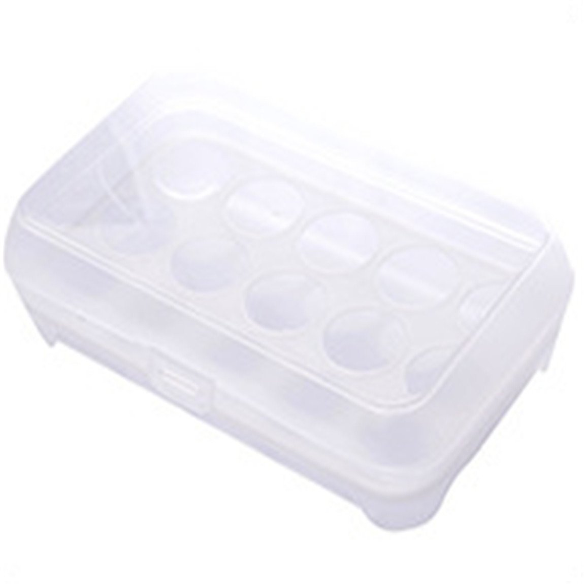 Ancdream Plastic Egg Storage Container / Box, Refrigeator Safe - for 15 Eggs with Lid - Blue Color AW0004