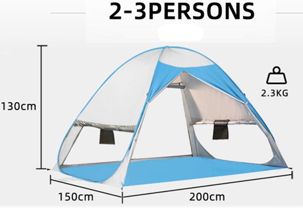 HUOFEIKE Automatique Sun Tentes Pop Up Tente Tente De Plage pour 2-4 Personnes, Anti-UV Compact Tente pour Jardin Camping Pêche De Pique-Nique,Vert Green
