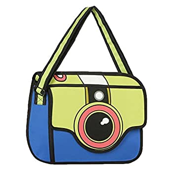 Newtripod Creative 3D Stereoscopic Cartoon Vintage Backpack for College Girls and Women Laptop Bag Cute Shoulder Backpacks for Teen Girls Prime Fashion Back to School bag on Sale,Blue