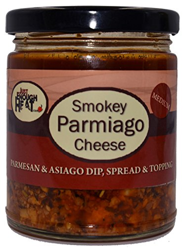 (Smokey Parmiago Cheese - Parmesan & Asiago Marinated Cheese Dip, Spread & Topping by Just Enough)
