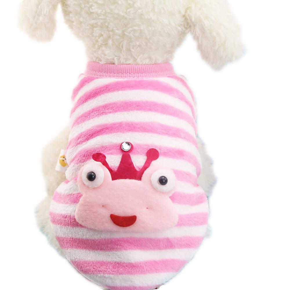 Howstar Super Cute Pet Sweater Puppy Dog Shirt Soft Warm Shirt Clothes for Doggie Cat Outwear Apparel (XS, F)