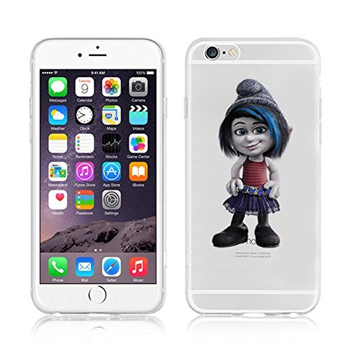 Disney Smurfs Transparent Clear TPU Soft Case For Apple iPhone 7 Plus VEXY