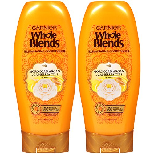 Garnier Whole Blends Illuminating Conditioner Moroccan Argan and Camellia Oils Extracts, 22 fl. oz. (Packaging May Vary), 2 Count
