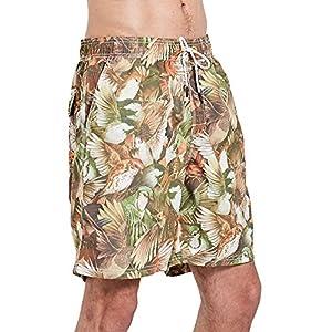 Kedera Men's Beachwear Board Shorts Quick Dry Swim Trunks (Yellow Bird, Medium)