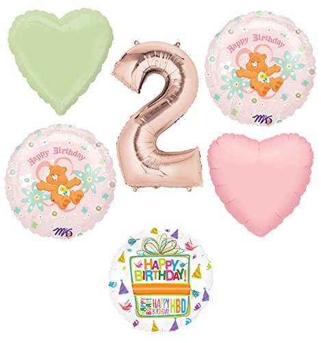 Care Bears Party Supplies and 2nd Birthday Balloon Bouquet Decorations