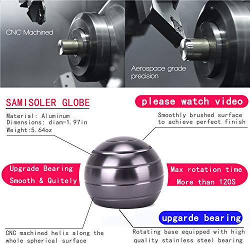 samisoler Kinetic Desk Toy for Adults Office Stress Relief with Full Body Optical Illusion Metal Ball by samisoler (Image #1)