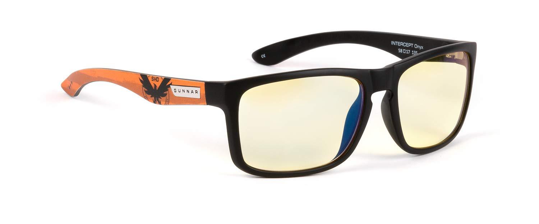 GUNNAR Optiks Gaming and Computer Glasses/Tom Clancy's The Division 2 Intercept, Amber Tint - Patented Lens, Reduce Digital Eye Strain, Block 65% of Harmful Blue Light