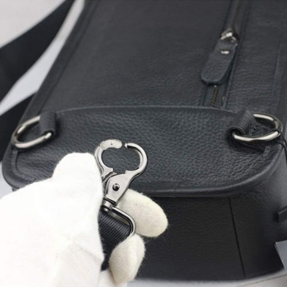 Color : Black, Size : M Shengjuanfeng Mens Chest Bag Cowhide Bag Casual Leather Chest Bag Outdoor Sports Shoulder Messenger Bag