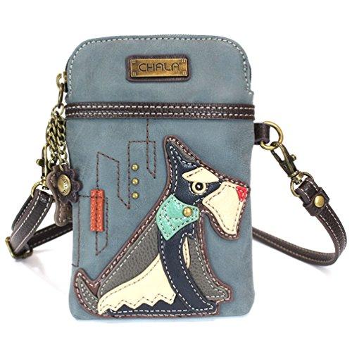 (Chala Crossbody Cell Phone Purse - Women PU Leather Multicolor Handbag with Adjustable Strap - Schnauzer -)