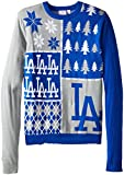 Klew MLB Los Angeles Dodgers Busy Block Ugly Sweater, Medium, Blue