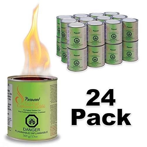 - Paramount GF-CAN-03 Indoor/Outdoor Gel Burner Fuel (24 Pack), Regular