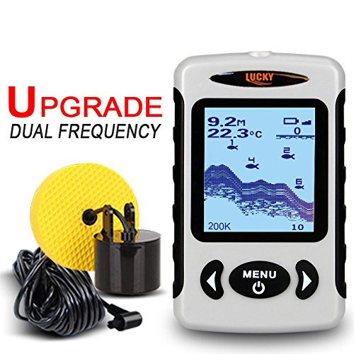 LUCKY 60 Degree Wired Sonar Alarm 100M/328FT Depth Fish Finder FF718D 200/80KHz Fish Finders And Other Electronics
