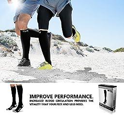 SB SOX Lite Compression Socks (15-20mmHg) for Men & Women - BEST Socks for Running, Medical, Athletic, Varicose Veins, Travel, Pregnancy, Shin Splints, Nursing. (Black/Gray, S/M)
