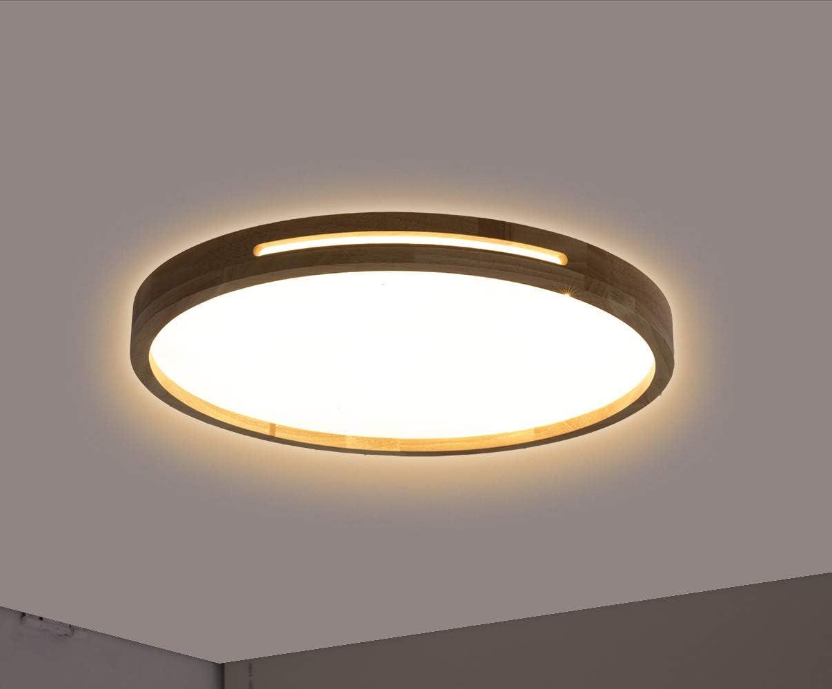 Convient pour Restaurant /Éclairage de plafond Modernes en Acrylique Lampe de fixation murale Azanan LED Plafonniers en bois massif Chambre /à coucher et Bureau. Salon Lumi/ère /à distance, /Φ38cm