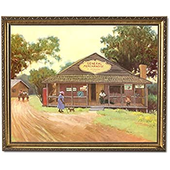 Amazon.com: African American Old Country Store Wall Picture Framed ...