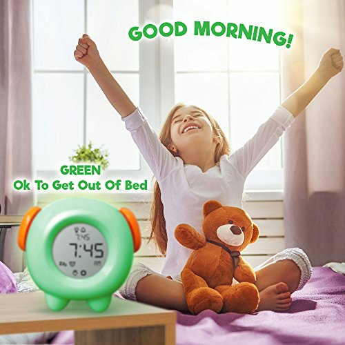 Stay In Bed Light Alarm Clock For Kids Teaches Child When