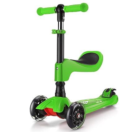 7bc7caa2b QFFL huabanche Scooter Puede Sentarse Scooters Tres en uno Flash de Cuatro  Ruedas Bloque Deslizante de
