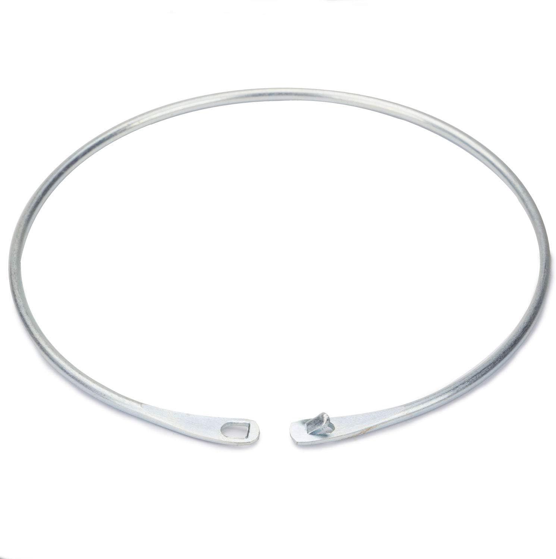 Marwotec Verbindungselemente 4 St/ück Warenringe aus Stahl geh/ärtet verzinkt 15 cm Warenring mit Verschluss Schl/üsselring ohne Haken