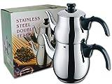 Stainless Steel Double Teapot/Samovar / Tea Maker
