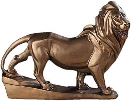COCECOCE Figuras esculturas estatuas artículos Decorativos Escultura artículos Decorativos estatuas de Animales Figuras de jardín Escultura de león Escultura de Resina Hecha a Mano decoración de es: Amazon.es: Hogar