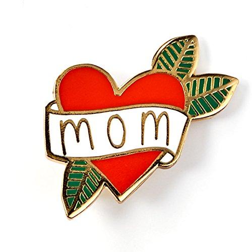(BADGE BOMB Mom Heart Tattoo Enamel Pin)