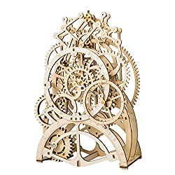ROKR 3D Self-Assembly Puzzle Model-Wooden Building Sets-Adult Craft Set-Brain Teaser Educational and Engineering Toy for Teens and Adults 14 Years and up (Pendulum Clock)