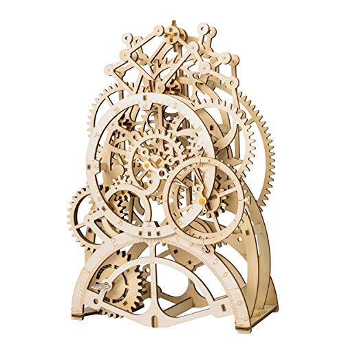 ROKR 3D Self-Assembly Puzzle Model-Wooden Building Sets-Adult Craft Set-Brain Teaser Educational and Engineering Toy for Teens and Adults 14 Years and up (Pendulum Clock) from ROKR