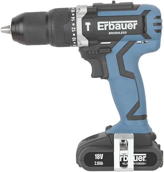 ERBAUER ERI691COM 18V 2.0AH LI-ION BRUSHLESS CORDLESS COMBI DRILL High Quality And Easy To Use