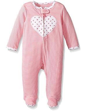 Baby Girls' Cotton Sleep & Play