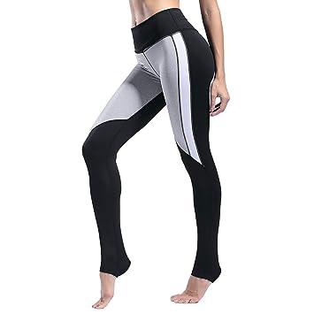 BAACHANG Pantalones de Yoga Blanco y Negro Lucha contra la ...