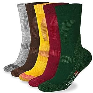 DANISH ENDURANCE Merino Wool Hiking Socks Crew for Winter, Trekking, Performance & Outdoor, Men & Women, Multi (3 or 1 Pairs)