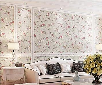 Superbe Ayzr Papier Peint Intissé Pastorale Romantique Chambre Papier Peint Floral  Chaud Salle De Mariage Salon Jaune