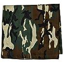 Carolina Hav, A, Hank Camouflage Bandannas, 22-Inch by 22-Inch, Woodland