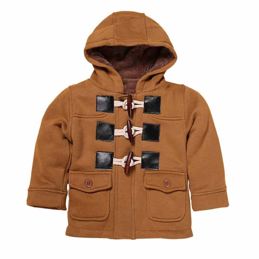 Kids Baby Boys' Winter Warm Hoodie Duffle Fleece Outerwear Jacket Coat Mary ye