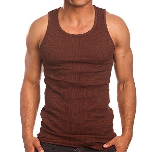 - Mens A-Shirts 3 Pack Undershirt, X-Large, Brown