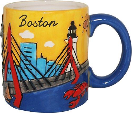 City of Boston Hand Painted Designer Mug of the Beautiful Boston (Boston Mug)