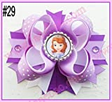24pcs 4.5'' Inspired Boutique Layered Hair Bow birthday hair bows girl hair clips -A