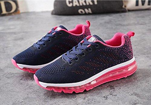 Interior Uomo tqgold Sneakers Ginnastica Sportive da Casual Fitness all'Aperto Unisex Running Rosa Scarpe Donna Corsa Basse 4ST7wS