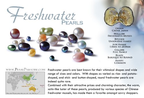 14k Freshwater Cultured Pearl Bracelet AAA Quality 7.5-8.0 mm 7.5'' Multicolor (White Gold & Yellow Gold) by Pearl Paradise (Image #5)