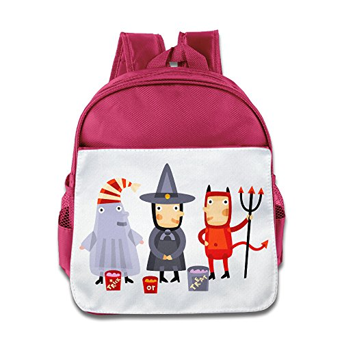 XJBD Custom Cool Halloween Kids Children School Bag Backpack For 1-6 Years Old Pink (Tales Of Halloween Dvd Release Date)