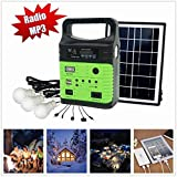 10-Watt Solar Generator Portable kit,Power Inverter,Solar Generator System for Home & Camping,9000mAh Rechargeable Battery Pack UPS Power Supply, Included 6 Watt Solar Panels