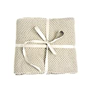 Spring Fever 100% Organic Cotton Soft Knitted Premium Throw Blanket Baby's Stroller Nursery Blanket Beige One Size