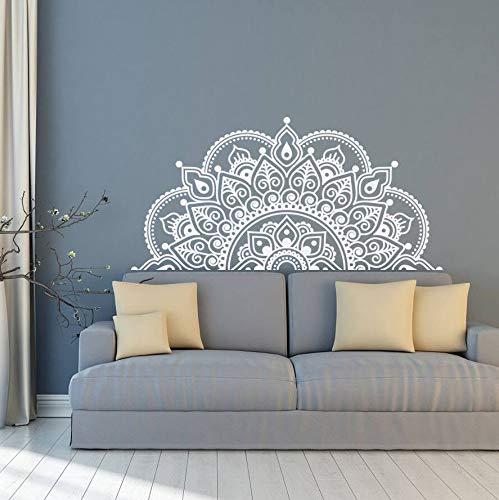 Ponana Vinilo Tatuajes De Pared Medio Mandala Mural Regalo De Yoga Inicio Cabecero Decoración Medio Mandala Pegatinas...