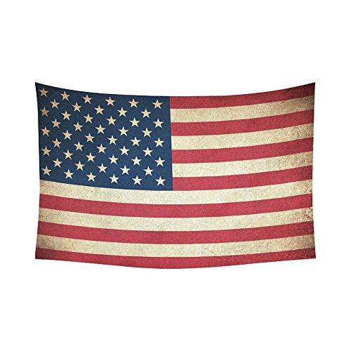 Interestprint Vintage Retro American USA Flag Tapestry Wall