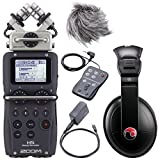 Zoom H5 Four-Track Portable Recorder w/ Accessory Pack & Resident Audio R100 Headphones - Bundle