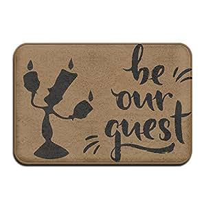 Custom diciendo citas Be Our Guest weclom alfombra antideslizante alfombra alfombra para exteriores/baño/inodoro/sala de estar/comedor/sala de juegos, Felpudo tamaño 40x 60cm