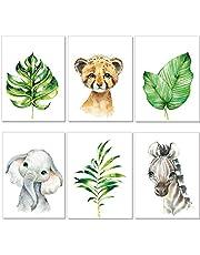 artpin® 4er Set Poster Kinderzimmer - A4 Bilder Babyzimmer - Deko Mädchen Junge