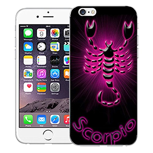 """Mobile Case Mate iPhone 6 4.7"""" Silicone Coque couverture case cover Pare-chocs + STYLET - Pink Scorpio pattern (SILICON)"""