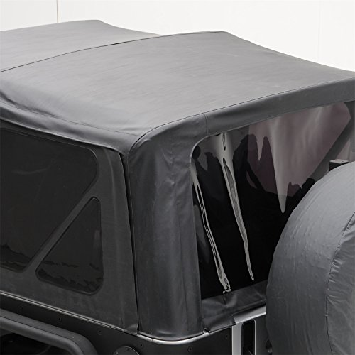 Smittybilt 9070235 Black Diamond Replacement Top with Tinted Side Windows for Jeep JK 2-Door (Best Jk Soft Top)